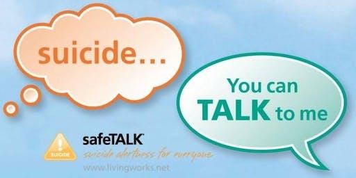 safeTalk: suicide prevention training