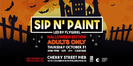 Adult Sip n' Paint Halloween Edition