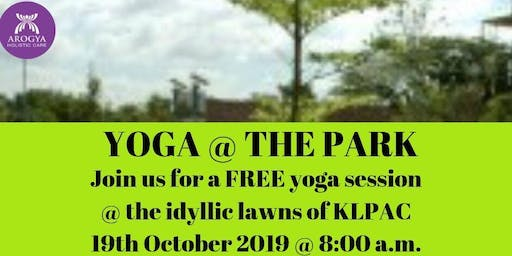 FREE Yoga@thePark at KLPAC on 19th October 2019
