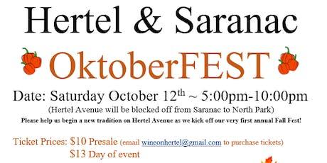 Hertel & Saranac OktoberFEST tickets