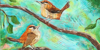 Mixed Media – Birds and Flowers