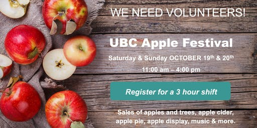 Apple Festival Volunteer Sign-up 2019