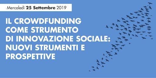 IL CROWDFUNDING  COME STRUMENTO  DI INNOVAZIONE SOCIALE