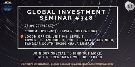 Global Investment Seminar #348 tickets