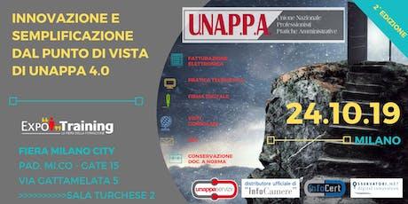 INNOVAZIONE E SEMPLIFICAZIONE DAL PUNTO DI VISTA UNAPPA 4.0 | 2° EDIZIONE biglietti