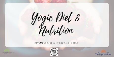 Yogic Diet & Nutrition tickets