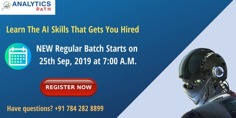 AI  Training At Analytic Path From 25TH Sep @ 7 AM, Hyd tickets