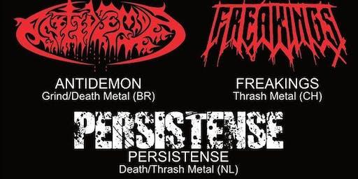 Antidemon BR + Freakings CH + Persistence NL@Ragnarok Live Club,B-3960 Bree
