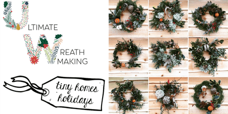Inspiring natural Christmas wreath making workshop tickets