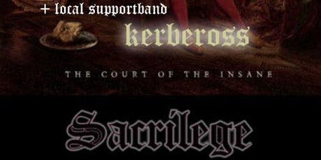 Sacrilege UK + Kerbeross B @Ragnarok Live Club,B-3960 BREE tickets