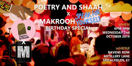 Poetry and Shaah x Makrooh tickets