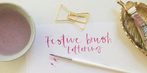 Festive Brush Lettering with Watercolours