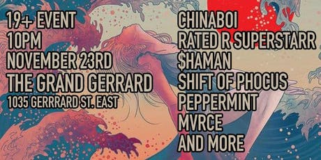 Tokyo Smoke Artist Showcase: Chinaboi, $haman, Rated R Superstarr and More tickets