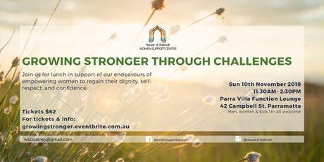 GROWING STRONGER THROUGH CHALLENGES tickets