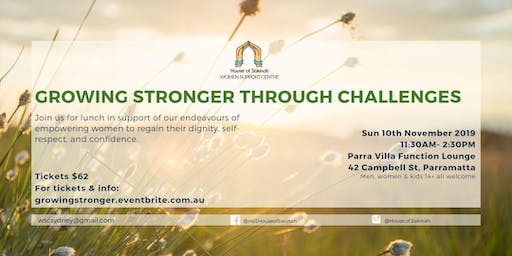GROWING STRONGER THROUGH CHALLENGES