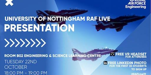 RAF LIVE PRESENTATION - Nottingham University
