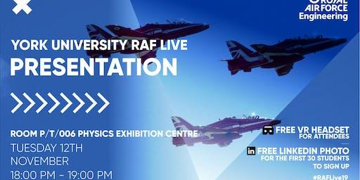 RAF LIVE PRESENTATION - York University