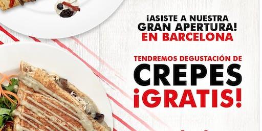 Gran inauguración Crepissima Barcelona