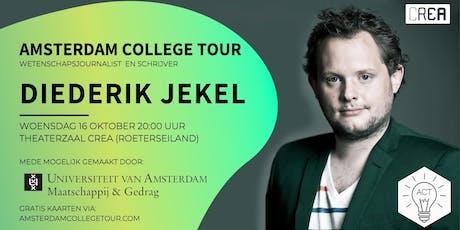 Diederik Jekel bij Amsterdam College Tour tickets