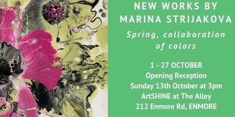 """Spring, collaboration of colors"" by Marina Strijakova -Sunday 13 October tickets"