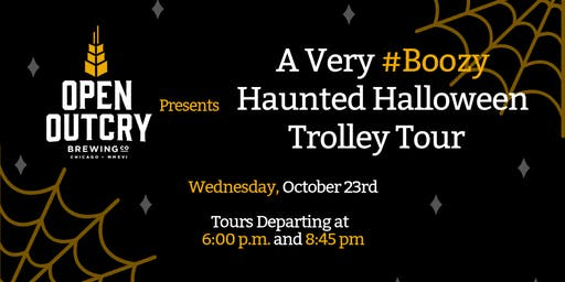 A Very #Boozy Haunted Halloween Trolley Tour