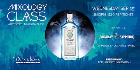 Mixology Class + Appetizers - Featuring Bombay Sapphire tickets