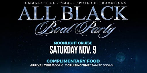 All Black Boat Party