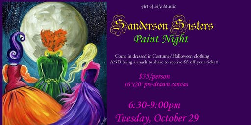 Paint Night: Sanderson Sisters