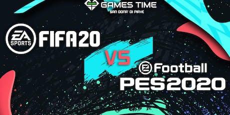 FIFA 20 VS PES 2020: il torneo biglietti