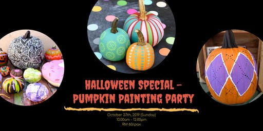 PUMPKIN PAINTING PARTY - Halloween Special