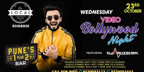Wednesday Video Bollywood Night - Dj Abhishek tickets