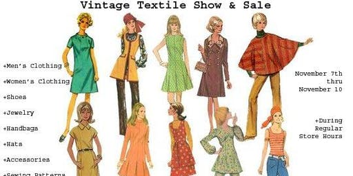 Vintage Clothing and Textile Sale!