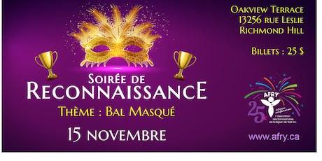 SOIRÉE DE RECONNAISSANCE tickets