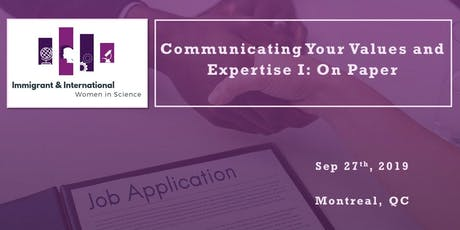 Communicating Your Values and Expertise Series I: On Paper - Montreal, QC tickets