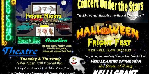 """Halloween Fright Fest Concert Under the Stars"" Kelli Grant Queen of Swing"