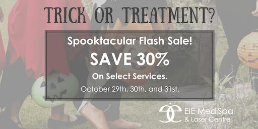 Spooktacular Flash Sale: Save 30% on Select Services!
