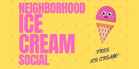 Neighborhood Ice Cream Social tickets
