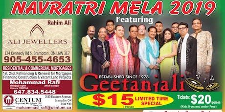 Geetantali Group MGSO Navratri Mela at Brampton Soccer Center on Sept 28th. tickets