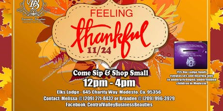 Feeling Thankful sip & shop event tickets