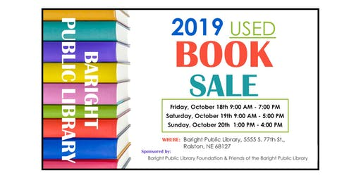 Used Book Sale - Sun, Oct 20