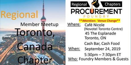 Toronto, Canada Member Meetup -  September 2019 tickets
