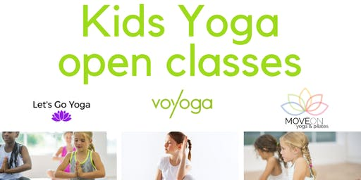 Kids Yoga & Mindfulness OPEN CLASSES OCT 18 & 19