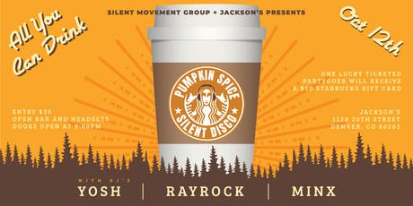 All You Can Drink Pumpkin Spice Silent Disco tickets