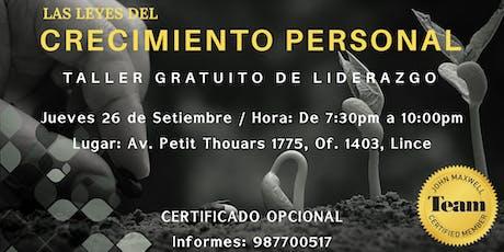 TALLER GRATUITO DE CRECIMIENTO PERSONAL - JOHN MAXWELL TEAM entradas