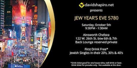 Jew Year's Eve 5780 hosted by davidshapiro.net tickets
