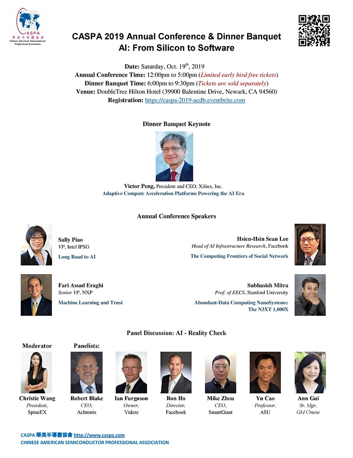 AI: From Silicon to Software -- CASPA 2019 Annual Conference image
