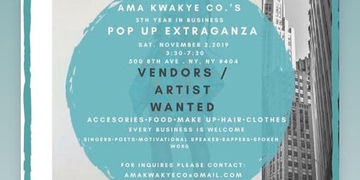 Vendors / Artist wanted for a pop up extravaganza