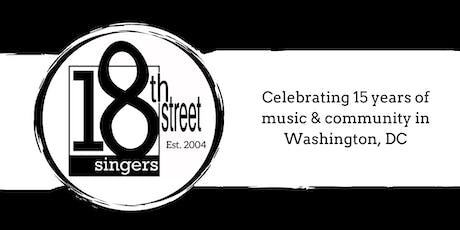 18th Street Singers Cabaret tickets