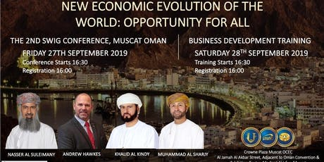 The New  Economic Evolution of the World: An Opportunity for all  tickets