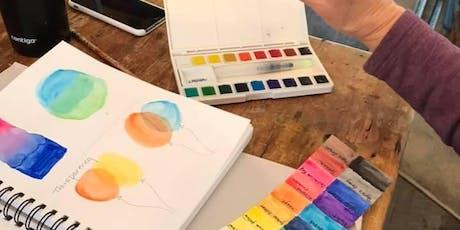 Beginning Watercolor Techniques @ Art Yourself Studio tickets